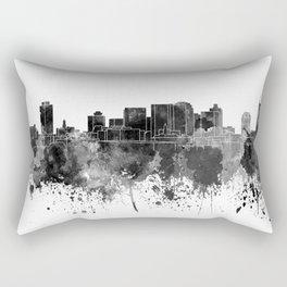 Nashville skyline in black watercolor Rectangular Pillow