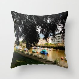 The Shaded Tree in Totnes Throw Pillow