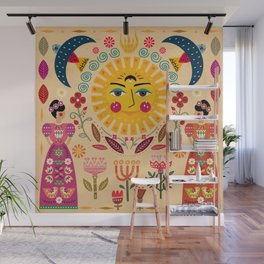 Folk Art Inspired By The Fabulous Frida Wall Mural