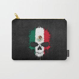 Flag of Mexico on a Chaotic Splatter Skull Carry-All Pouch