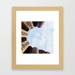 River City Marina shapes Framed Art Print