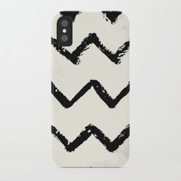 ZigZag Stripes on Ivory iPhone Case