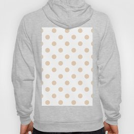 Polka Dots - Pastel Brown on White Hoody