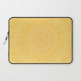 The Most Detailed Intricate Mandala (Mustard Yellow) Maze Zentangle Hand Drawn Popular Trending Laptop Sleeve