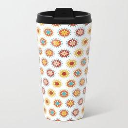 Casino Chip Pattern Metal Travel Mug