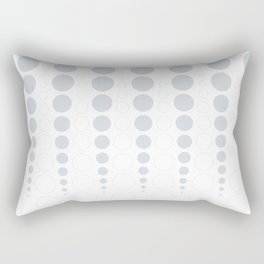 Up and down polka dot pattern in white and a pale icy gray Rectangular Pillow