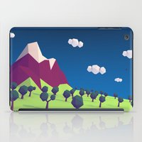 low poly iPad Cases featuring Low-Poly Mountain by Jorge Antunes