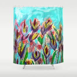Florals for Spring...Groundbreaking.  Shower Curtain