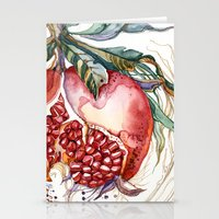 pomegranate Stationery Cards featuring Pomegranate by Irina Vinnik