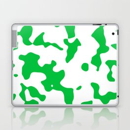 Large Spots - White and Dark Pastel Green Laptop & iPad Skin