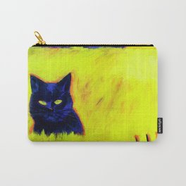 Cat in Yellow Field Carry-All Pouch