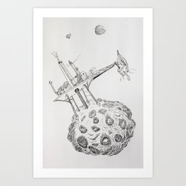Asteroid Mining Art Print