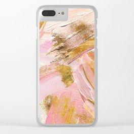 Blush Glitz Clear iPhone Case
