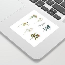 Delicate Floral Pieces Sticker