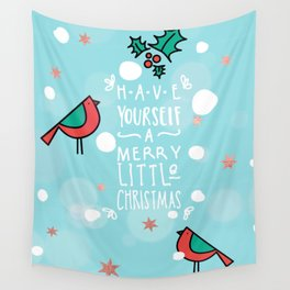 Merry little Christmas Wall Tapestry