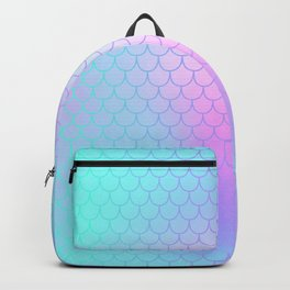 Turquoise Pink Mermaid Tail Abstraction Backpack