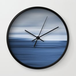 Under a Deep Blue Sky Wall Clock