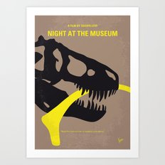 No672 My Night at the Museum minimal movie poster Art Print