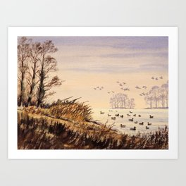 Duck Hunting Times Art Print