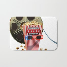 3D Movie Reel and Buttered Popcorn Bath Mat