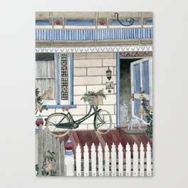 Staying at home Canvas Print