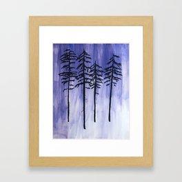 Lavender Pine Trees Framed Art Print