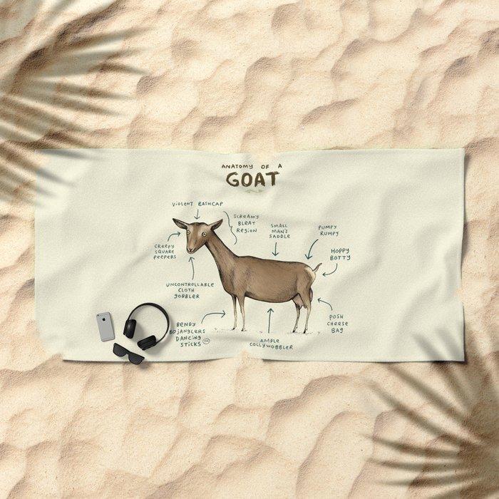 Anatomy of a Goat Beach Towel