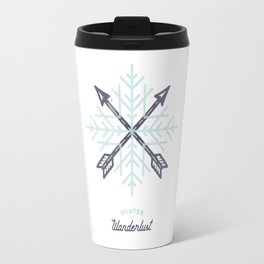 Winter Wanderlust (white) Travel Mug