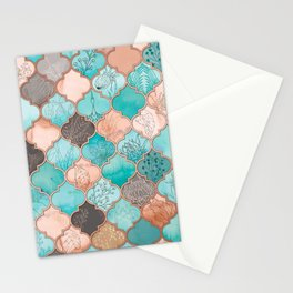 Moroccan pattern artwork print Stationery Cards