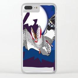 bat pattern Clear iPhone Case
