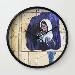 Virgin Mary and Bottles Wall Clock