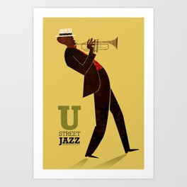 U Street Jazz (Trumpet) Art Print