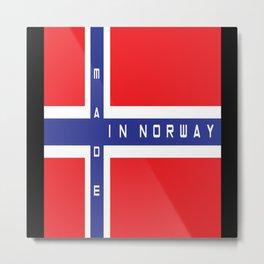 Norway Norway Flag Norway Gifts Metal Print