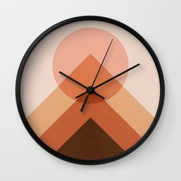 Abstraction_Sunset_Modernism_Minimalism_001 Wall Clock
