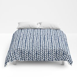 Knit Wave Navy Comforters