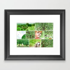 Untitled (Boy & Bird) Framed Art Print
