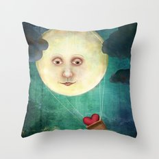 Love you to the Moon Throw Pillow