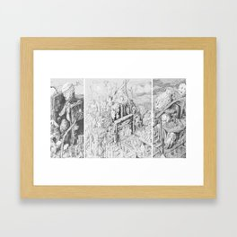 The Actor's Faces Framed Art Print