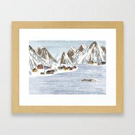 Denmark. Framed Art Print