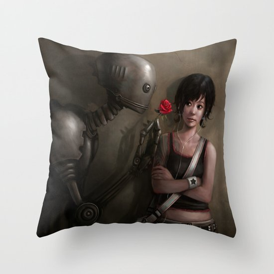 Robot In Love Throw Pillow