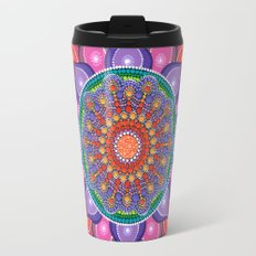 Lotus Rainbow Mandala Travel Mug