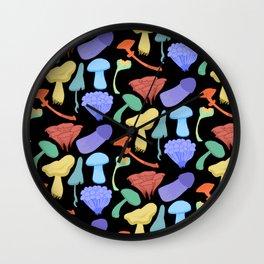 Glow Mushrooms Wall Clock