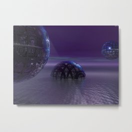 Mysterious Orbs Metal Print