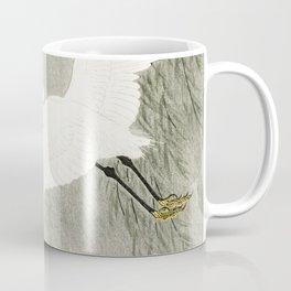 Flying Egrets - Japanese vintage woodblock print Coffee Mug