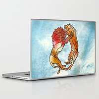 lions Laptop & iPad Skins featuring Lions by madbiffymorghulis