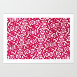 Action Valentine  Art Print