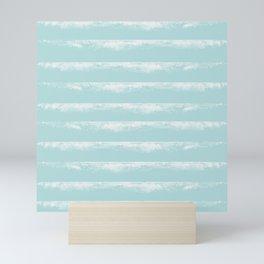 Irregular Stripes Mint Mini Art Print