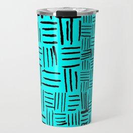 Aqua Dashed Travel Mug