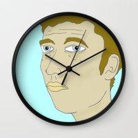 bob dylan Wall Clocks featuring bob dylan  by Chad spann