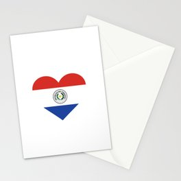 Paraguay  love flag heart designs  Stationery Cards